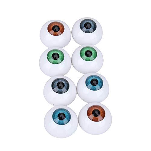 ADSE 8 Globos oculares Huecos Accesorios de Terror de Halloween Disfraz Globos oculares de plstico Accesorios de Terror de Halloween