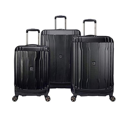 DELSEY Paris Cruise Lite Hardside 2.0 Expandable Luggage, Spinner Wheels, Black, 3-Piece Set (21/25/29)