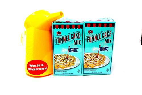 FCF Carnival Funnel Cake Kit, 2 Pack of Mix - Includes Funnel Cake Dispenser