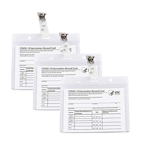 Wusuowei Protector de tarjeta de vacunación CDC 4 x 3 pulgadas horizontal ID protector manga