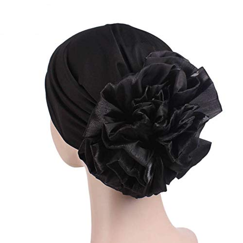 Casue Frauen große Blume elastischer Baumwolle Turban Beanie Kopf Wickeln Chemo Cap Haarausfall Hut