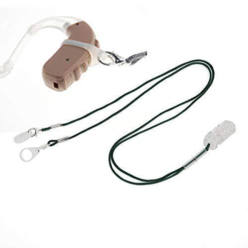 Longzhuo Cuerda de Clip de audífono, Cuerda de audífono Clip de Protector de Pinza antipérdida Soporte de Soporte Amplificador de Sonido Accesorios de audífonos