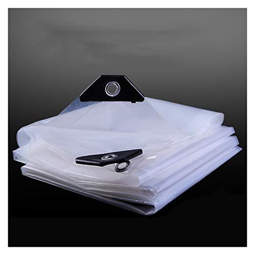 XJJUN Cubierta De Lona Impermeable, Cubierta De Lluvia Transparente, Lona A Prueba De Viento para Bloquear Ventanas, PVC para Exteriores Se Puede Personalizar (Color : Claro, Size : 4x4m)