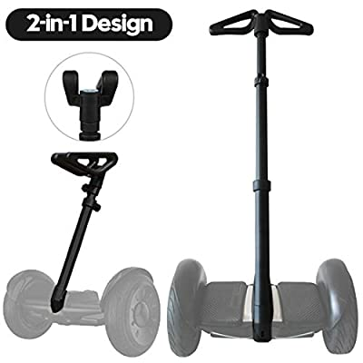 ToLanbbt Multi-Functional 2-in-1 Handlebar Kit, New Improved 2020 Version Adjustable Handlebar Release Knee Pressure Retractable Handlebar for Segway MiniLite MiniPro Ninebot S-Black
