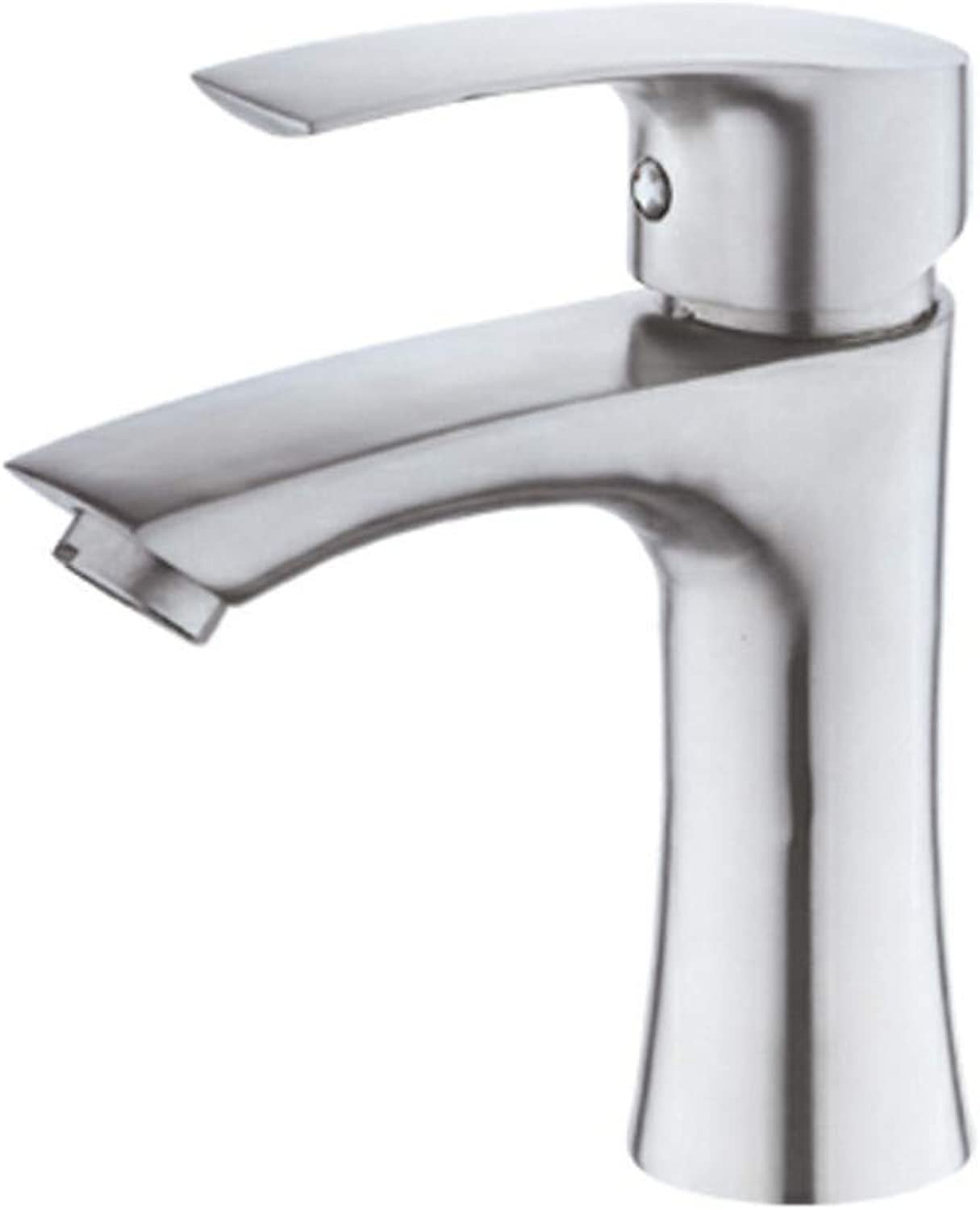 Kitchen Sink Tapbathroom Sink Tap 304 Stainless Steel High-Heeled Single Hole Hot And Cold Wash Basin Faucet Washbasin Sitting Above Counter Basin Faucet