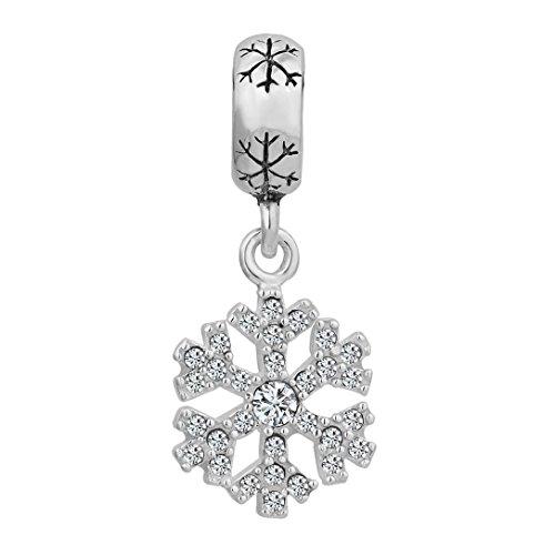 Pugster - Abalorio de plata de ley 925 con colgante con diseño...