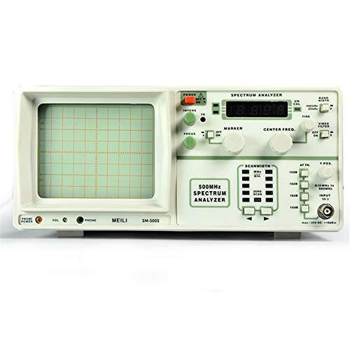 Automotriz SM5005 Analizador de Espectro de Mano Frecuencia 0.15-500 MHz Instrumen Sin generador de señal de Seguimiento o Tira de la cámara CCTV LED (Size : 110V)
