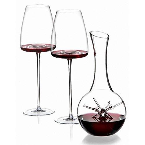 Set decanter per vino con 2 bicchieri 'Star - mini' Vision 'Straight'