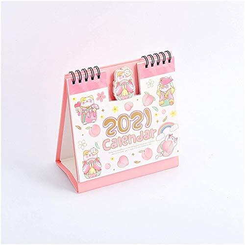 Calendarios 2021 Calendarios de escritorio 2021 Dibujos animados Animal Unicorn Series Calendario de escritorio Calendario Doble Programa Programa planificador Anual Agenda Organizador Oficina Planead