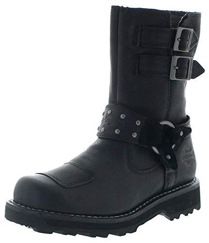 FB Fashion Boots Damen Biker Boots D86013 MARMORA CE Engineerstiefel Schwarz 36 EU inkl. Schuhdeo