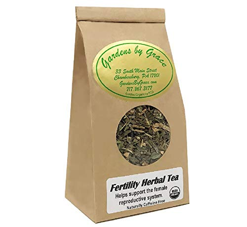 Fertility Tea, Improve Reproductive Hormone Balance, Drug Free, Organic, Wild Yam, Vitex, Schisandra Berry, Increase Conception, Loose Leaf, 4 Ounces