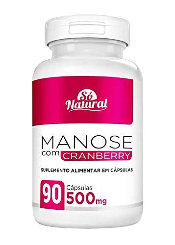 D-Manose com Cranberry 500 mg 90 Cápsulas Só Natural