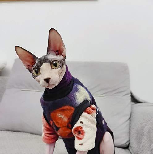 DOUJIN Sphynx/Devon vêtements de Chat sans Poils, Hiver épaissir Pull/Manteau sans Manches-M_01