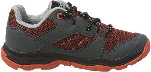 Jack Wolfskin Unisex-Kinder MTN Attack 3 Low K Trekking- & Wanderhalbschuhe, Grau (Orange/Dark Grey 3563), 31 EU