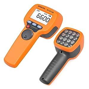 BTMETER Digital Handheld Stroboscope BT-DT10S, LED Flash Strobe Tachometer,60~99999 FPM Speedometer Hz Velocity Tester,Non Contact Rotational Speed Analyzer for Gear Print Spin