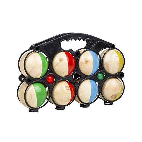 Trendkontor Boule-Set Boccia Spiel 8er aus Massivholz Durchmesser 7cm Gartenspiel