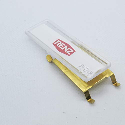 RENZ Namensschild mit Feder 65x22mm RENZ Nummer 97-9-00302
