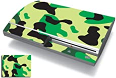 Bundle Monster Vinyl Skins Accessory For Sony Playstation PS3 Game Console - Cover Faceplate Protector Sticker Art Decal - Camouflage