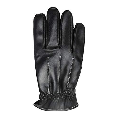 Guantes de trabajo de invierno, 2 piezas de guantes de invierno para hombre, impermeables, pantalla táctil, guantes de cuero para mujer al aire libre, a prueba de viento y calor grueso guantes