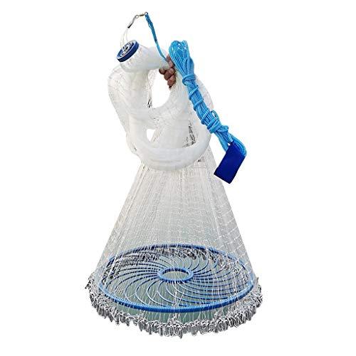 ChenCheng Nets Angeln, verdickte Einzeiliger 0,5 Finger / 1-Finger-Cast Net, Frisbee Hand Thrownetz, Hand Guss Typ, 4.8M / 5.4M / 6M / 7.2M Durchmesser Süßwasser Net /@