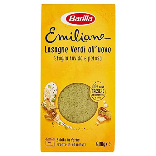 Barilla Le Emiliane Lasagne Verdi Pasta all'Uovo, 500g