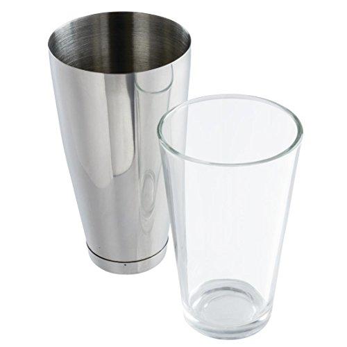 APS 93140 Boston Shaker, Set Becher (700 ml) und Glas (400 ml), Ø 9 x 30 cm, Edelstahl