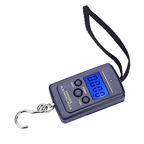 Alomejor Digital Fish Scale Electronic Digital Postal Hanging Hook Scale For Recreational Competitive Fishing Luggage