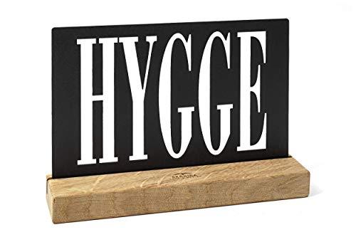 HYGGE Schild - Schriftzug - handgemachte nordische DEKO - Wohnaccessoire aus Eiche mit GRAVUR