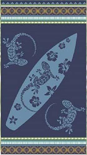 Tiendadeleggings - Sofía - Toalla Playa Grande Tablas Surf Azul 100% Algodón Egipcio 90 x 170 Centímetros