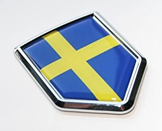 Car Chrome Decals Sweden Swedish Flag Decal Car Chrome Emblem Sticker CBSHD207