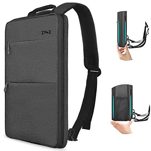 Slim & Expandable Laptop Backpack 15 15.6 16 Inch Sleeve with USB Port, Spill-Resistant Notebooks Bag Case for Most 14-16 Inch MacBooks Surface-Books Dell HP Lenovo Asus Computers, Dark Gray