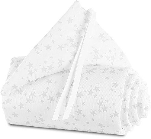 babybay Nestchen Piqué passend für Modell Maxi, Boxspring und Comfort, weiß Sterne perlgrau