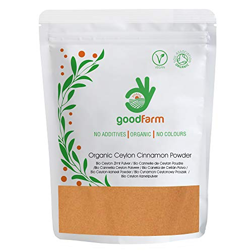 GoodFarm - Canela de Ceilán ecológica en polvo, 250 g