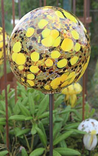 Bornhöft Rosenkugel Gartenstecker Glaskugel Gartendeko Gartendekoration Handarbeit Rankstab Dekoration Beetstecker Topfstecker 11
