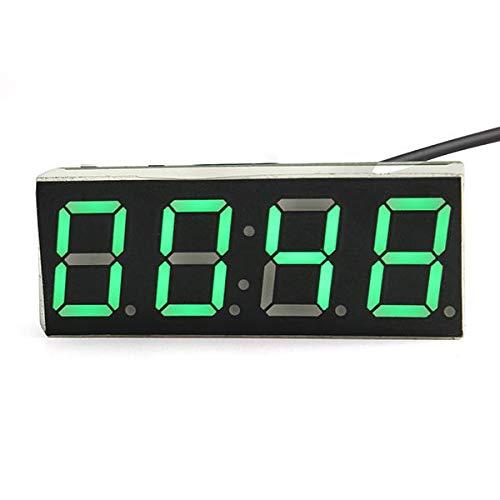 YALIXING Electrónica de vehículos Módulo de Reloj de microcontrolador Creativo DIY con medición de Voltaje de Fecha de Temperatura Proporcionarle una Mejor Experiencia de conducción