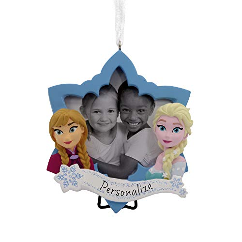 Hallmark Christmas Ornaments, Disney Frozen Anna and Elsa Picture Frame Personalized Ornament