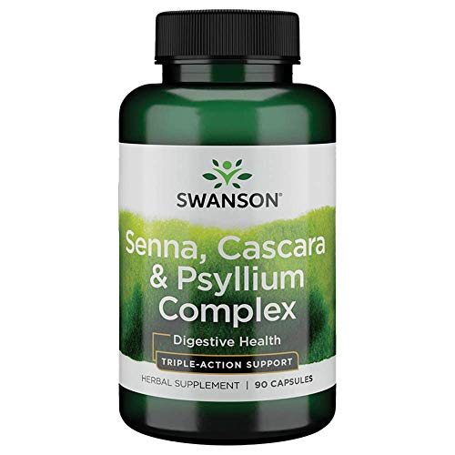 Swanson Senna Psyllium Cascara Complex GI Tract Regularity Support 90 Capsules