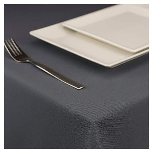 StoffTex Tischdecke Tischläufer Tischtuch Tischwäsche Tischdekoration Tafeltuch (Graphit, 120 x 160 cm)