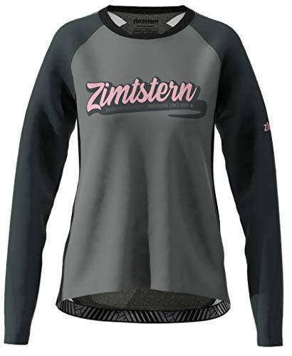 Zimtstern Damen ProTechZonez Shirt LS WMNS MTB, Glacier Grey/Pirate Black, L