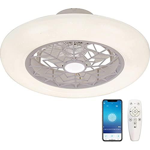 Ventilador de techo con Luz Lámpara Iluminación, 50cm 72W Regulable Lampara LED Techo, Control Remoto para Ajustable Velocidad del Viento, Iluminación para Sala de Estar, Comedor, Dormitorio