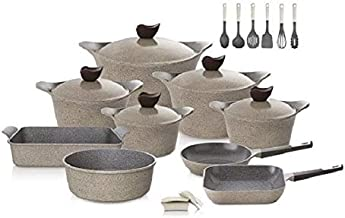 Neoflam Korean Granite Cookware Set, 20pcs