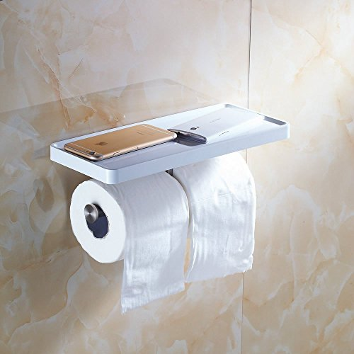 Top 10 best selling list for 7 mounted toilet paper holder white with shelf