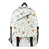 AFHB Floral Student School Bag Mochila Bolsa de Viaje Mochila de Temporada Escolar Bolsa de computadora Bolsa de Escalador de Gran Capacidad (8)