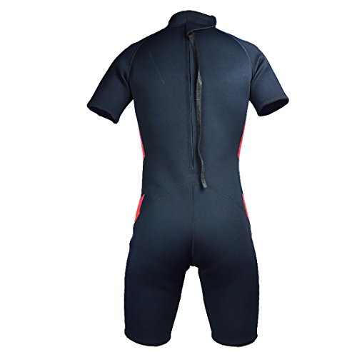 Lemorecn Wetsuits Adults Premium Neoprene Diving Suit 3mm Shorty Jumpsuit