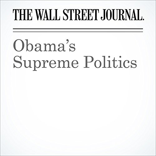 Obama's Supreme Politics audiobook cover art