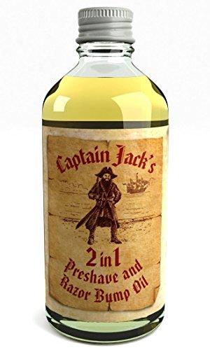 Captain Jack's Pre Shave Oil Huile De Rasage et Bosses De Rasoir 2 en 1 Après-Rasage Huile Fragrance 'Lime Fougueuse' Fabriqué au Royaume-Uni Avec Des Ingrédients Naturels et Biologiques 100ml