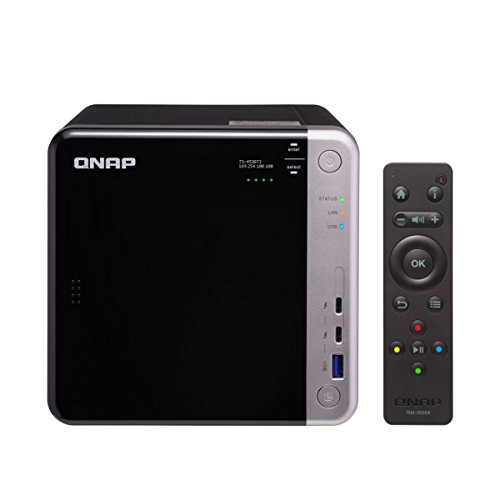 QNAP TS-453BT3-8G-US 4-Bay Thunderbolt 3 NAS. Intel Celeron Apollo Lake J3455 Quad-core CPU, 8GB RAM, SATA 6Gb/s