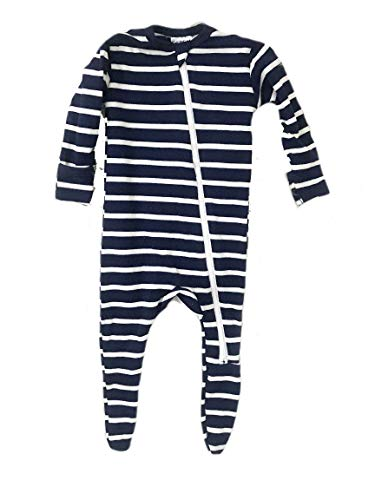 Aspen Lane Soft Bamboo Rayon Baby Footie - blue - New