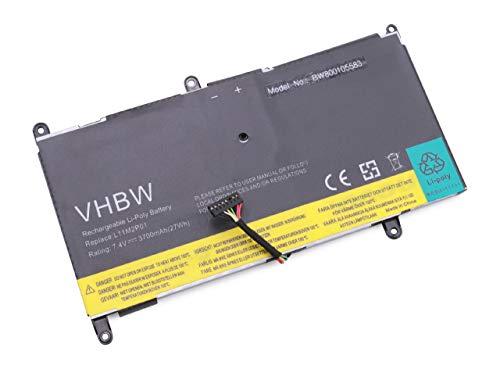 vhbw Batterie 3700mAh (7.4V) pour Ordinateur Portable Lenovo IdeaPad S200, IdeaPad S206 remplace 2ICP5/57/128, L11M2P01.