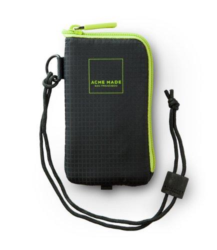acme MADE Etui praktische Handy-Tasche Kamera-Täschchen iPod-Tasche MP3 Player-Tasche Noe Soft Pouch 100 Schwarz/Grün